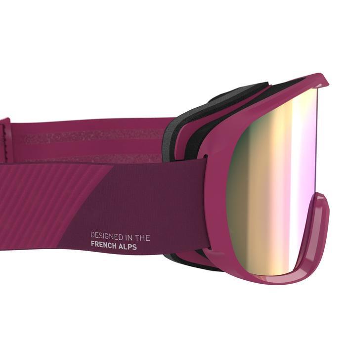 Ski- en snowboardbril voor dames en meisjes G 500 W zonnig weer paars