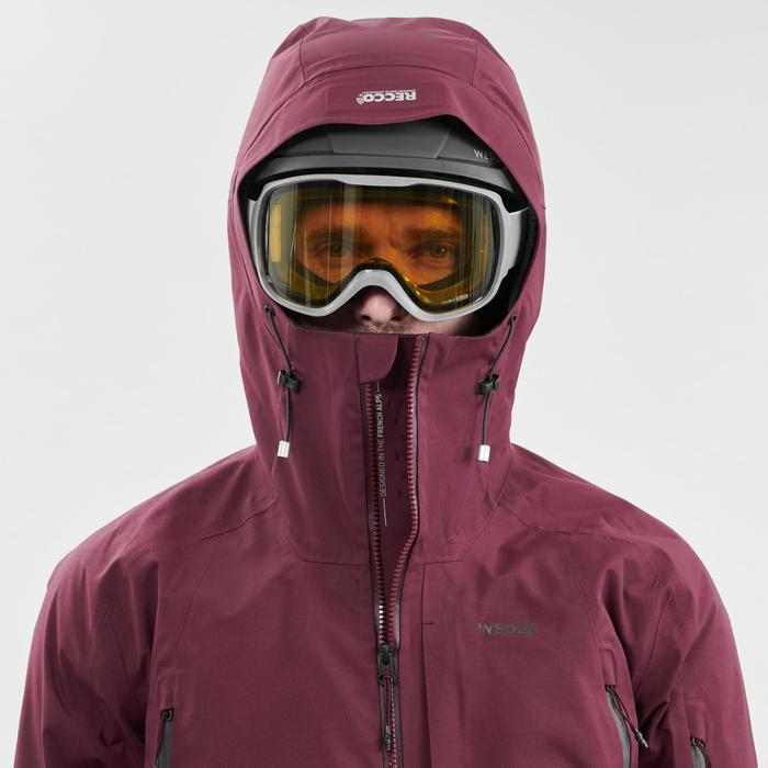 Ski- en snowboardbril voor volwassenen en kinderen G 500 slecht weer grijs