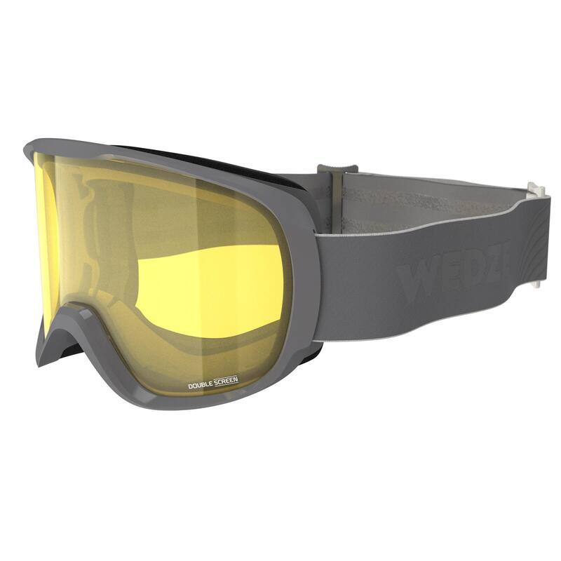 Gafas Esquí y Snowboard, Wedze, G 500, Adulto y Niños, Mal Tiempo, Gris