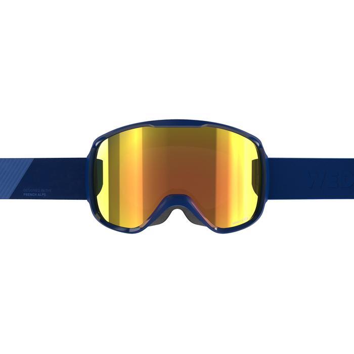 MASQUE DE SKI ET DE SNOWBOARD ENFANT ET ADULTE G 500 BEAU TEMPS BLEU