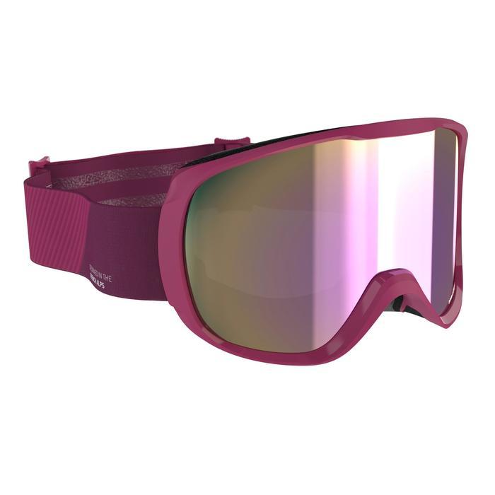 Skibrille Snowboardbrille G 500 S3 Schönwetter Damen/Mädchen violett