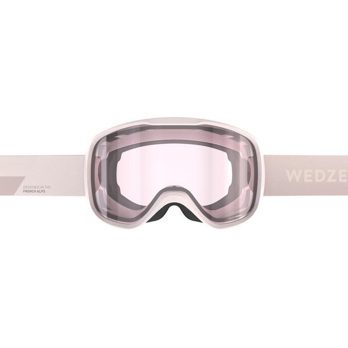 Skibrille Snowboardbrille G 500 Photochrom Allwetter Damen/Mädchen rosa