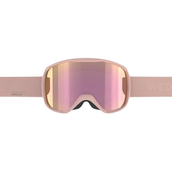 Skibrille Snowboardbrille G 500 S3 Schönwetter Damen/Mädchen rosa