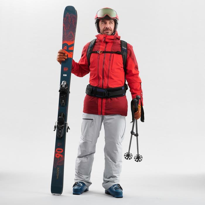 Skijacke Freeride 500 Herren bordeauxrot