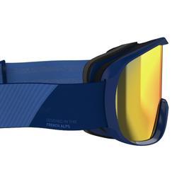 Skibrille Snowboardbrille G 500 S3 Schönwetter Erwachsene/Kinder blau
