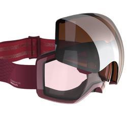 Ski- en snowboardbril voor kinderen en volwassenen G 900 I rood