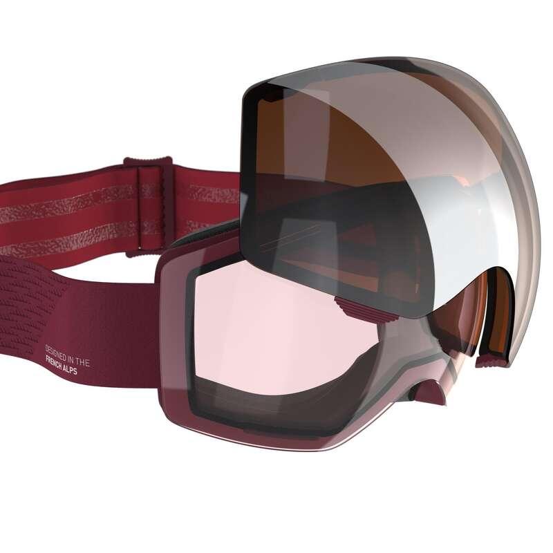 LYŽAŘSKÉ NEBO SNOWBOARD BRÝLE Snowboarding - LYŽAŘSKÉ BRÝLE G 520 I ČERVENÉ WEDZE - Ochranné prvky a příslušenství