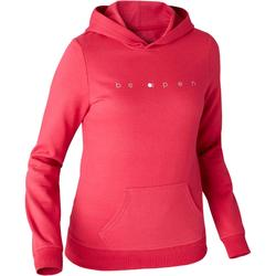 Sweat 520 capuche Pilates Gym douce femme rouge