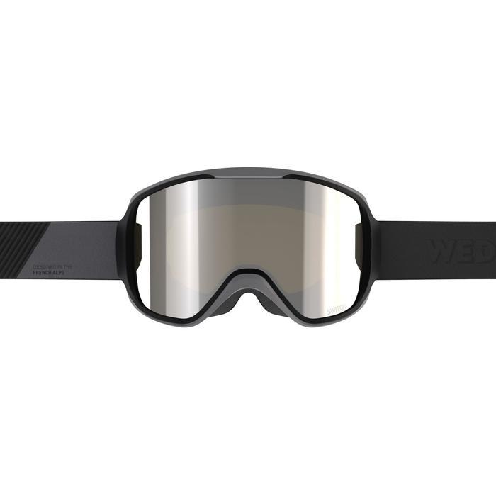 Ski- en snowboardbril voor volwassenen en kinderen G 500 I alle weertypes zwart
