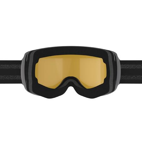KIDS' AND ADULT SKIING AND SNOWBOARDING MASK G 500 I ALL WEATHER - BLACK