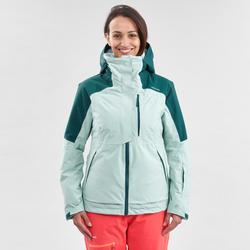 Chaqueta de Esquí y Nieve Mujer Wedze Ski FR100 Verde