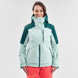 Ski-jas voor dames Freeride FR100 groen