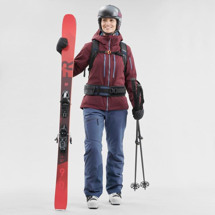 Skijacke Freeride 500 Damen bordeaux