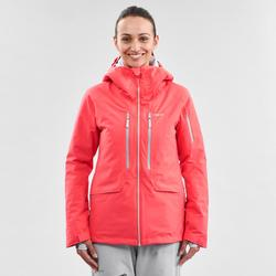 Abrigo Chaqueta esquí y nieve wed'ze mujer FR500 Rosa
