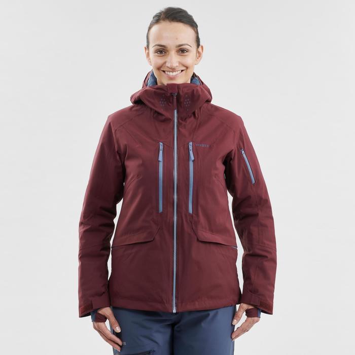 Ski-jas voor dames Freeride FR500 bordeaux
