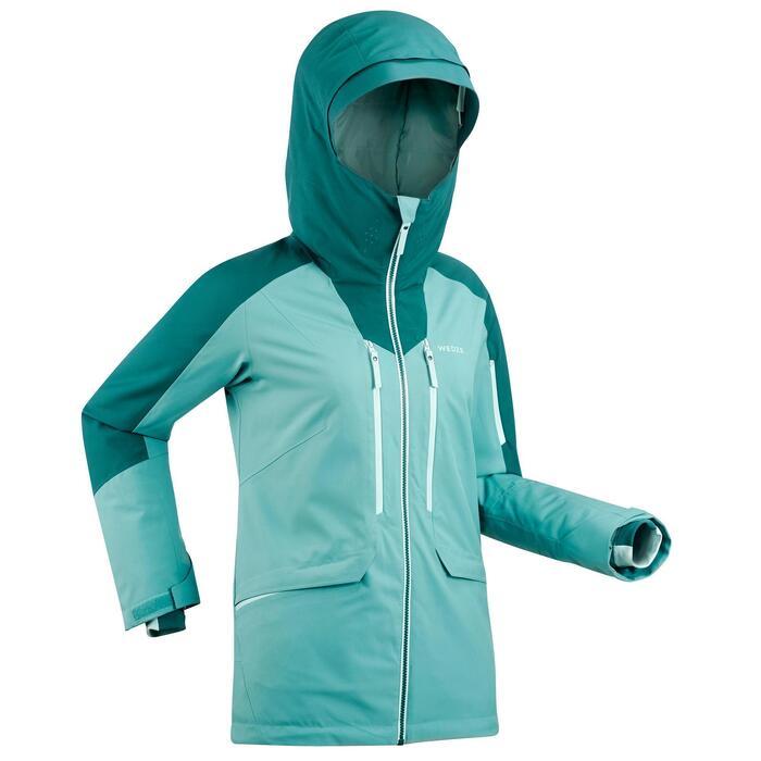 Skijacke Freeride FR 500 Damen grün