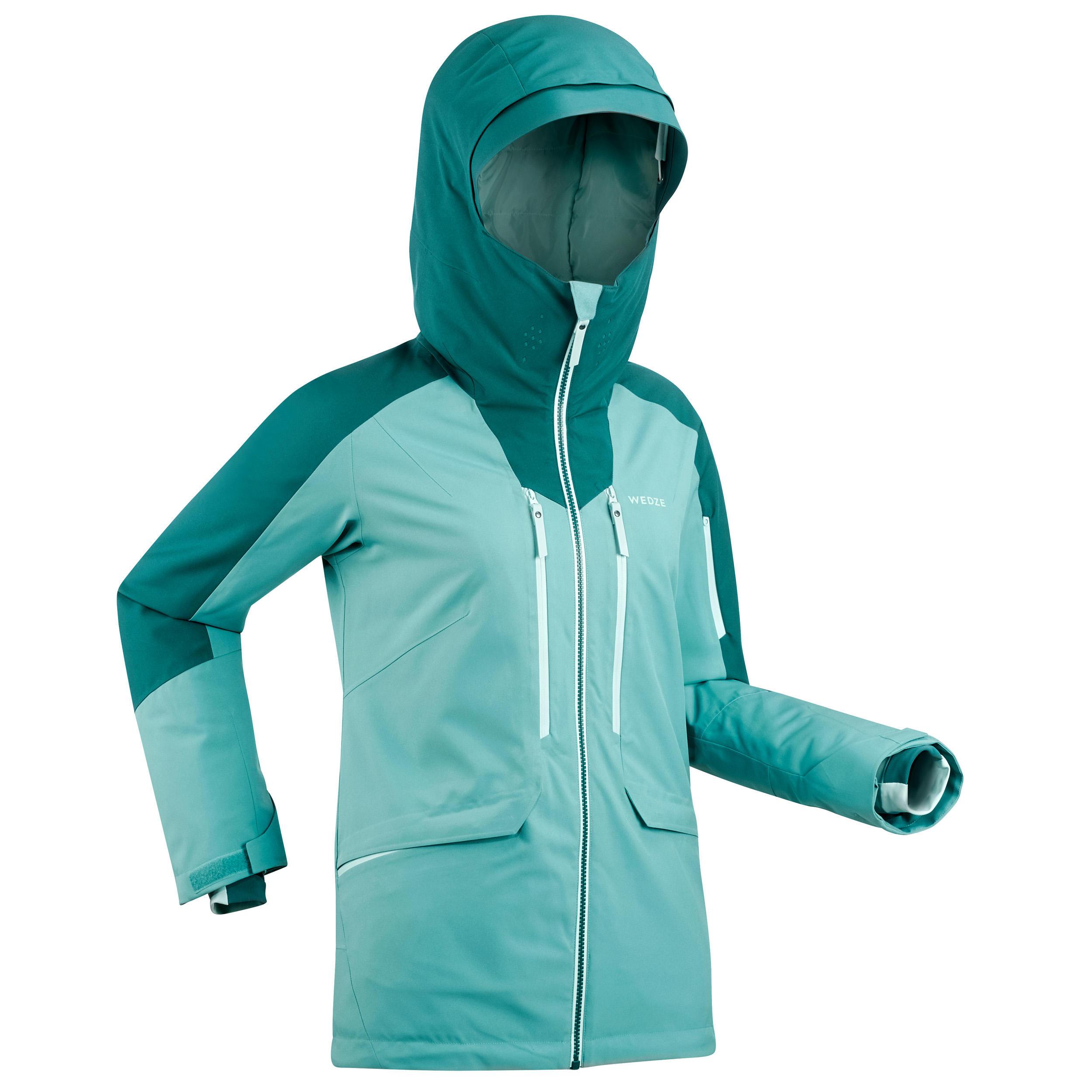 Veste de ski Freeride femme JKT SKI FR500 F Verte - Wedze