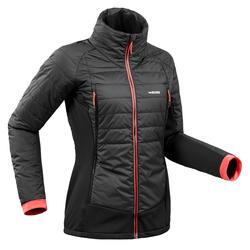 Chaqueta térmica enguatada de esquí freeride mujer FR 900 negro