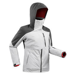 Manteau de ski tout-terrain femme JKT SKI FR100 F Gris