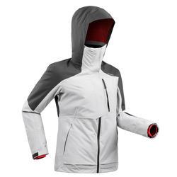 女款自由式滑雪外套FR 100 - 灰色