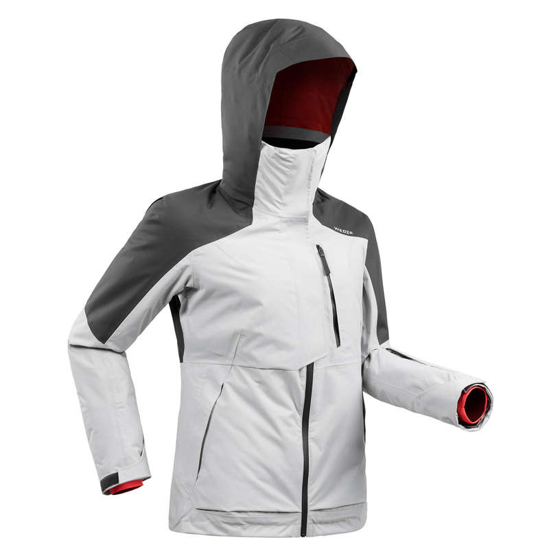 WOMAN'S FREERIDE SKIING CLOTHING Clothing - W SKI JACKET FR100 - Grey WEDZE - Jackets and Coats