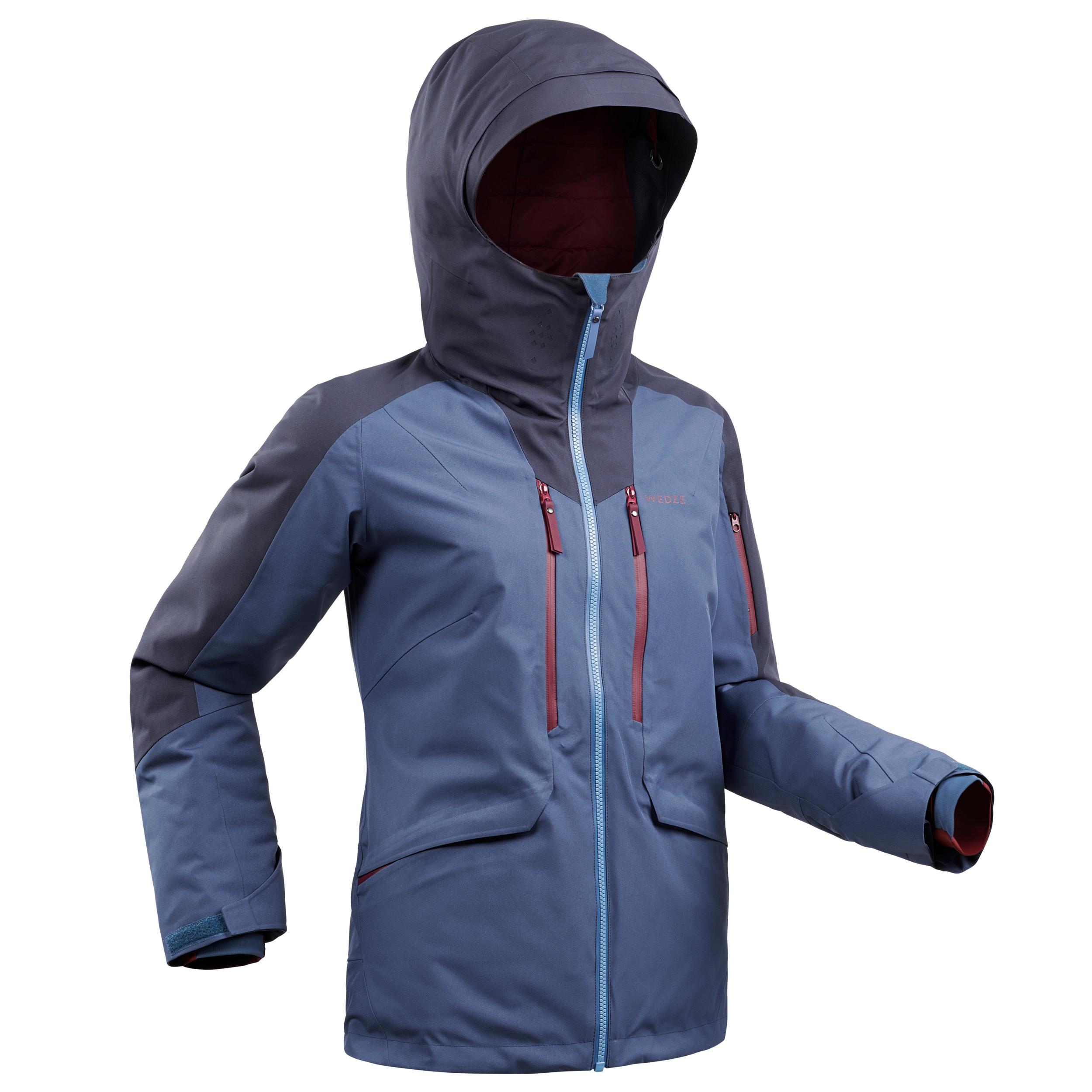 Veste de ski Freeride femme JKT SKI FR500 F Bleue - Wedze