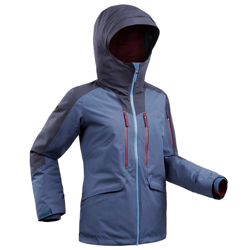 WOMAN'S FREERIDE SKIING CLOTHING Clothing - W SKI JACKET FR500 - Blue WEDZE - Jackets and Coats