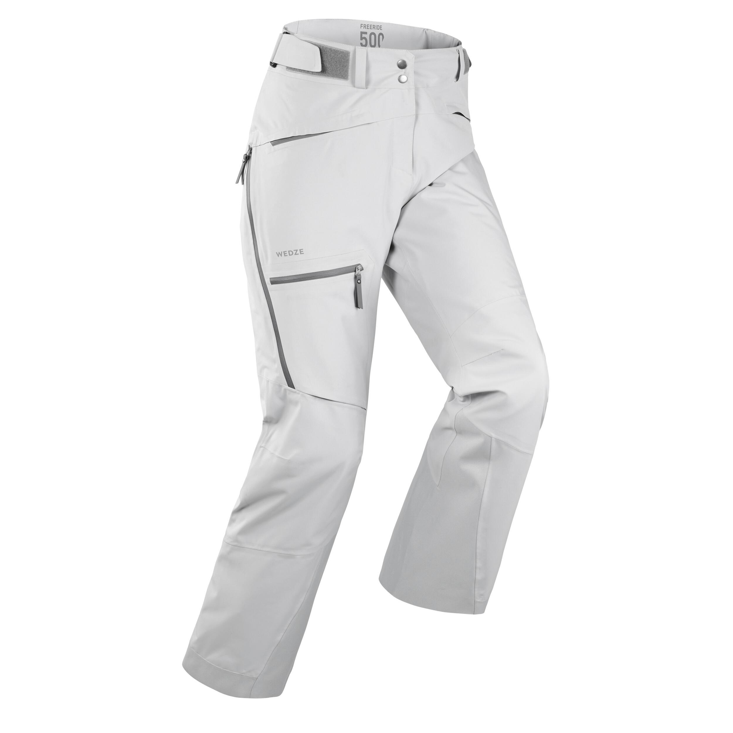 Pantalon de ski freeride femme fr500 gris wedze