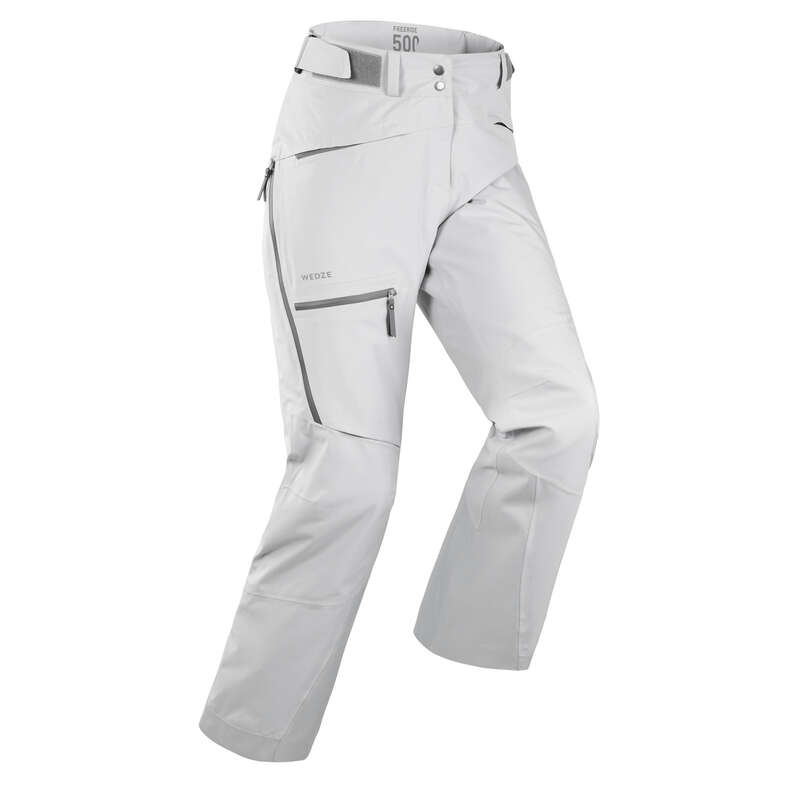 WOMAN'S FREERIDE SKIING CLOTHING Ski Wear - W SKI TROUSERS FR500 - GREY WEDZE - Ski Wear
