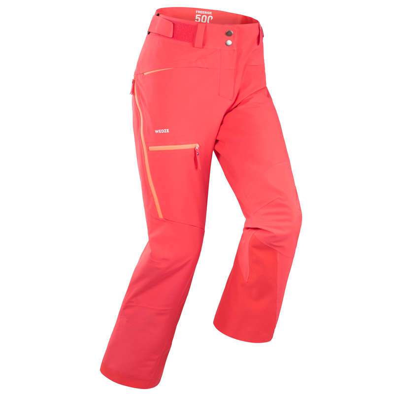 WOMAN'S FREERIDE SKIING CLOTHING Skiing - W SKI TROUSERS FR500 - Coral WEDZE - Ski Wear