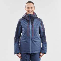 Abrigo Chaqueta esquí y nieve wed'ze mujer FR500 Azul