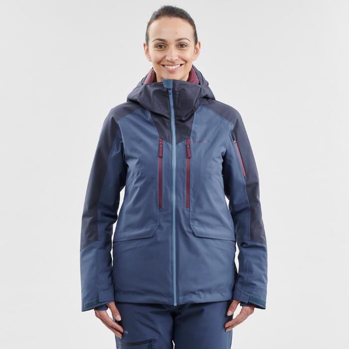 Veste de ski Freeride femme JKT SKI FR500 F Bleue