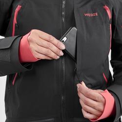 Skijacke Freeride FR 900 Damen schwarz rosa