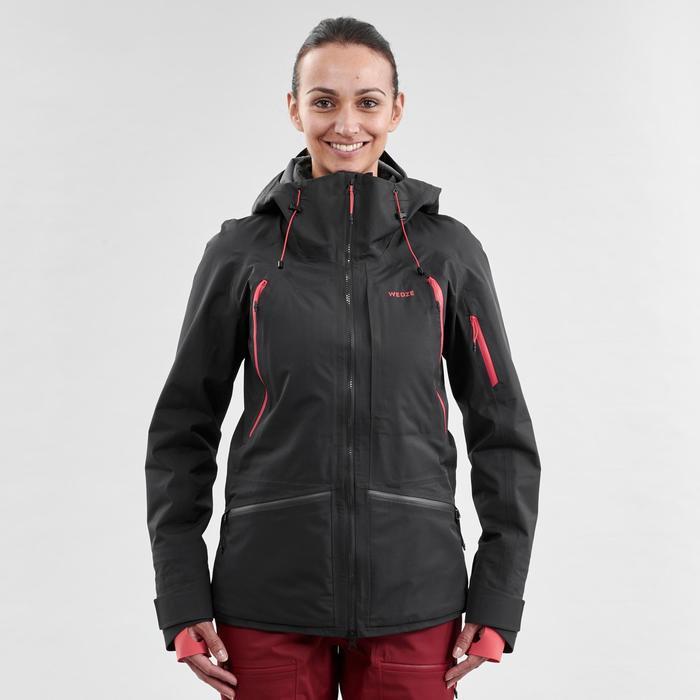 Veste de ski freeride femme FR900 Noir rose