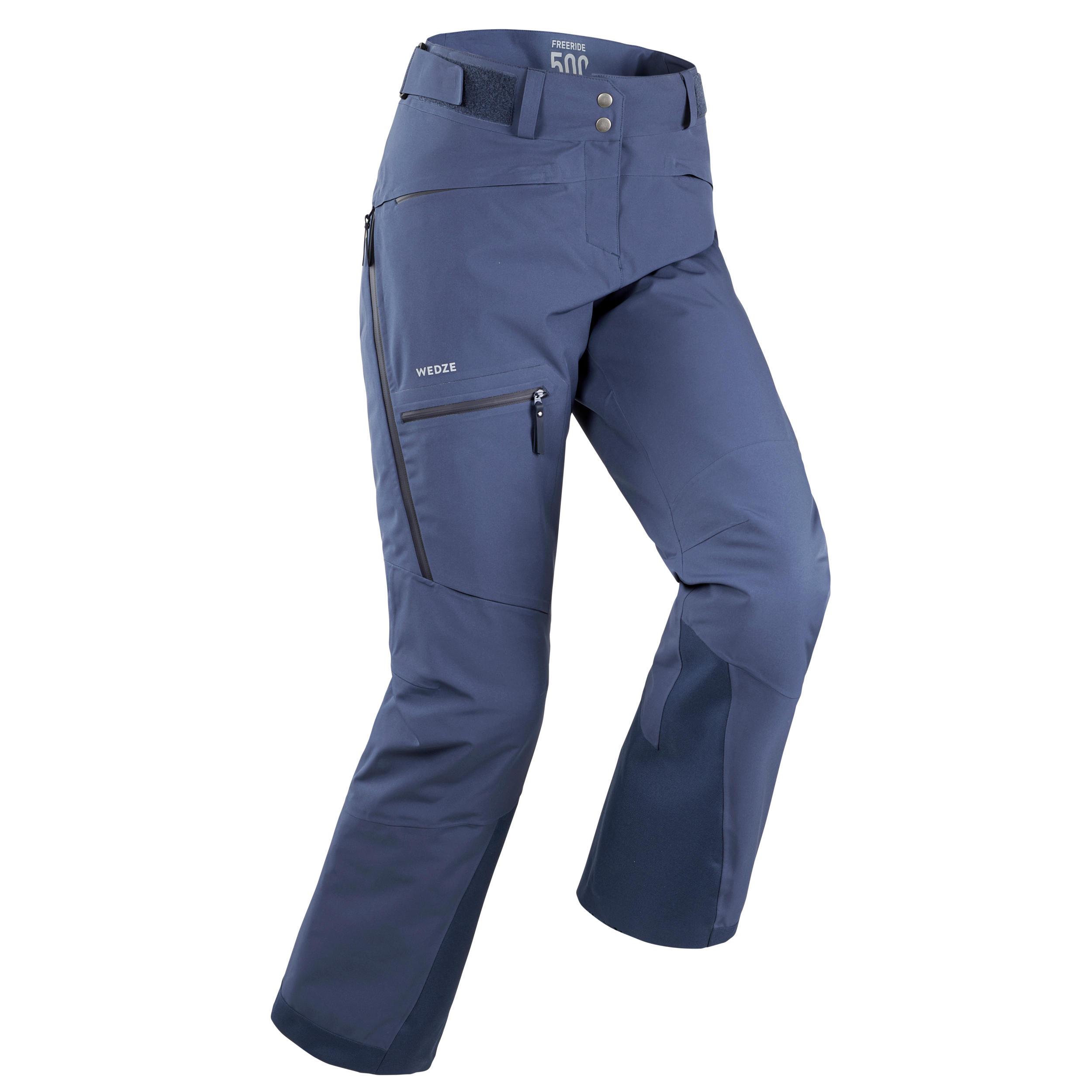 Pantalon de ski freeride femme fr500 bleu wedze