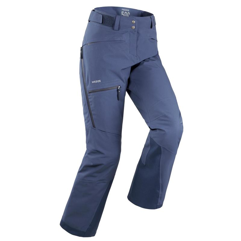 Pantaloni sci freeride donna FR 500 blu