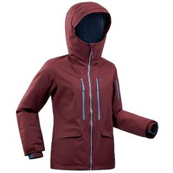 Giacca sci freeride donna FR500 bordeaux