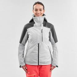 Chaqueta de Esquí y Nieve Mujer Wedze Ski FR100 Blanco Gris