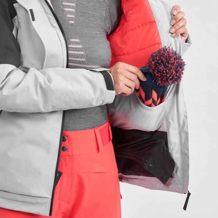 Ski-jas voor dames Freeride FR100 grijs