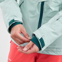 Manteau de ski tout-terrain femme JKT SKI FR100 F Vert