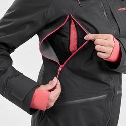 Ski-jas voor dames Freeride FR900 zwart/roze