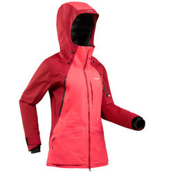 Manteau de ski tout-terrain femme FR900 bordeaux rose