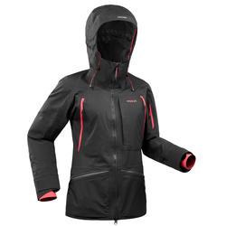 Ski jas voor dames waterdicht FR900 zwart/roze winterjas
