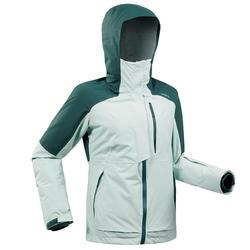 abrigo Chaqueta esquí y nieve wed'ze FR100 Mujer Verde