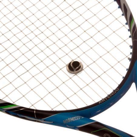Apvalus teniso raketės stygų vibracijų slopintuvas.