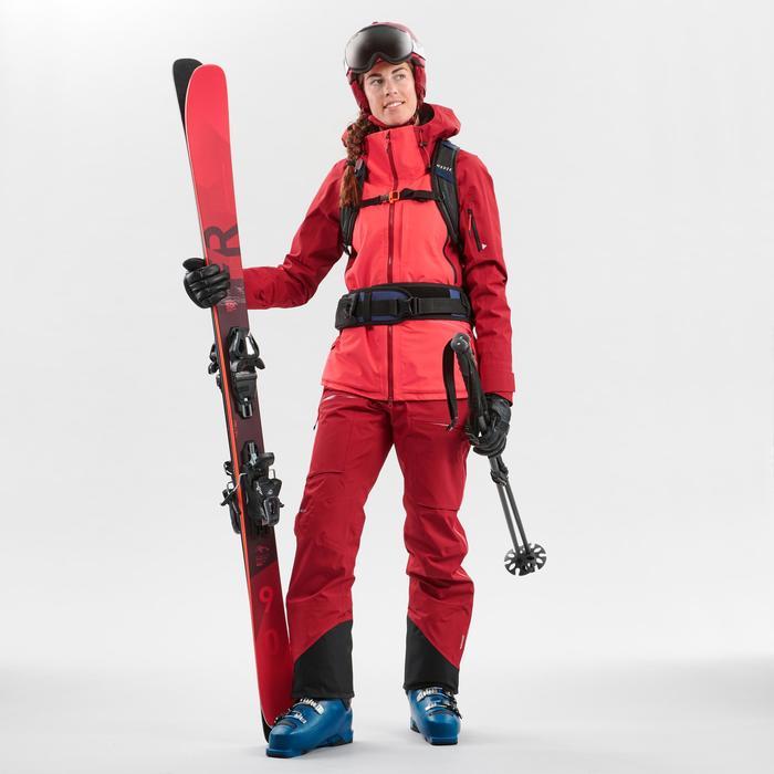 Women's Freeride Ski Jacket FR900 - Maroon Pink