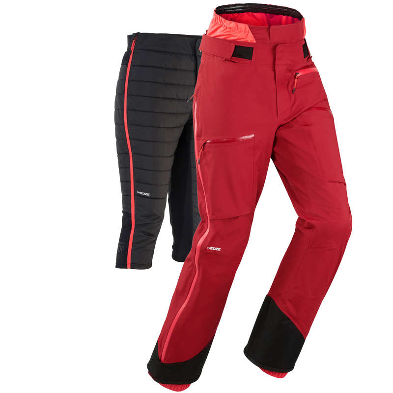 WOMAN'S FREERIDE SKIING CLOTHING Skiing - W Ski Pants FR900 F - Maroon WEDZE - Ski Wear