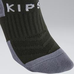 Chaussettes de football adulte F500 kaki EXCLUSIVITÉ WEB