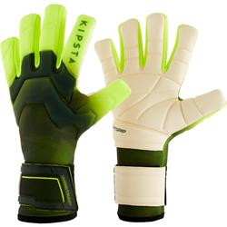 Keepershandschoenen voetbal volwassenen F900 negatieve naden zwart/geel