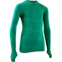 Kids' Long-Sleeved Base Layer Football Top Keepdry 500 - Green